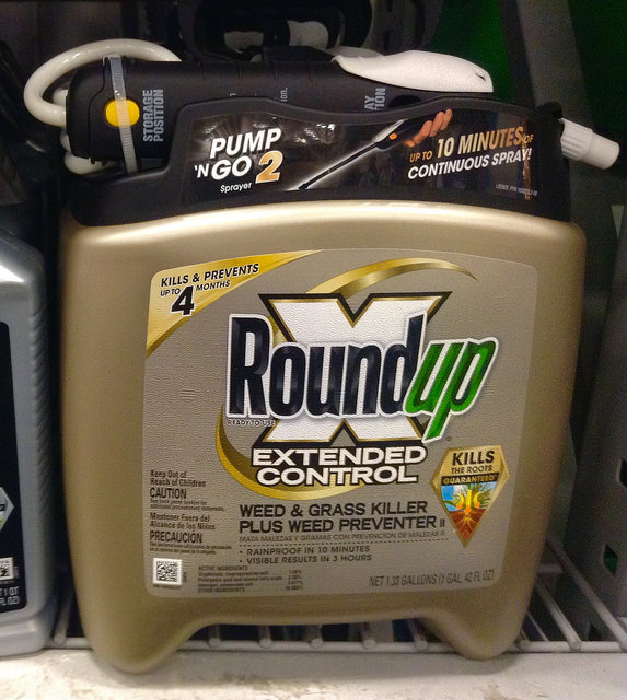 The pesticide, Roundup by Monsanto - Image Copyrights by: Mike Mozart  - Source: Flickr Creative Commons