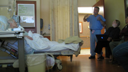 An hospitalized elderly patient - Image Copyrights by: Jess Pohlman  - Source: Flickr Creative Commons