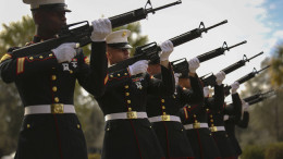 Marines Rifle salute - U.S. Marine Corps, Photo by Cpl. Caitlin Brink/Released