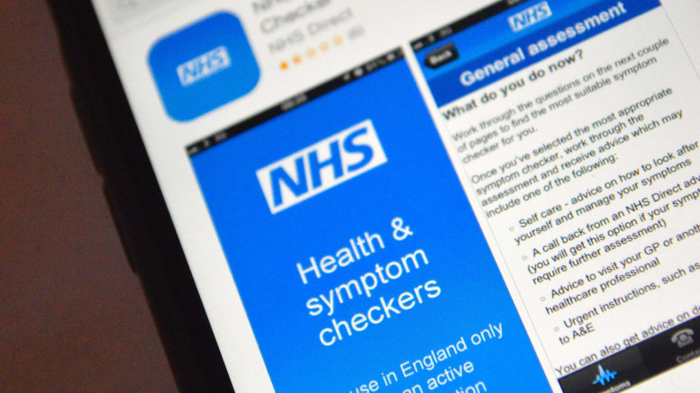 An app-based Symptom Checker. Photo credit:  www.integratedchange.net